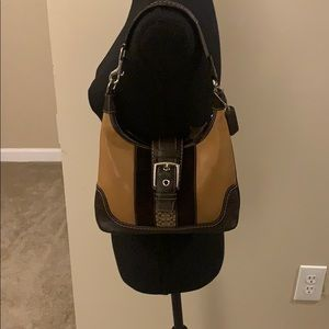 Coach Brown Suede and Leather Hobo w/ Tan Accents.